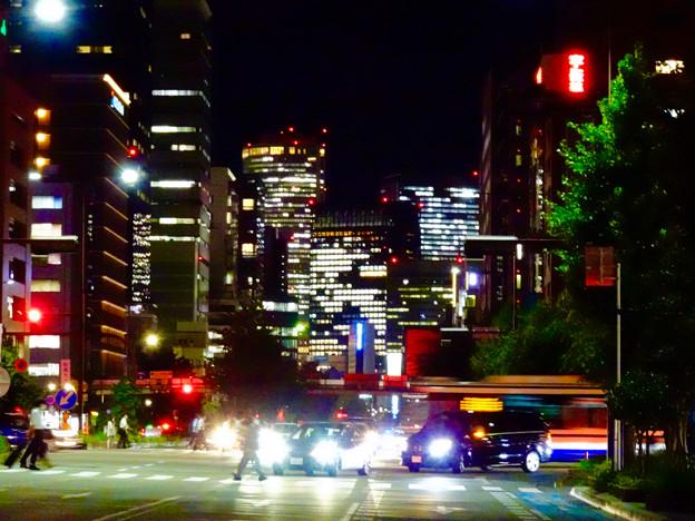 WX800のピクチャーエフェクト「ポップ」で撮影した桜通久屋交差点から撮影した名駅ビル群 - 2