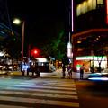 Photos: WX800のピクチャーエフェクト「ポップ」で撮影した夜の栄の街並み
