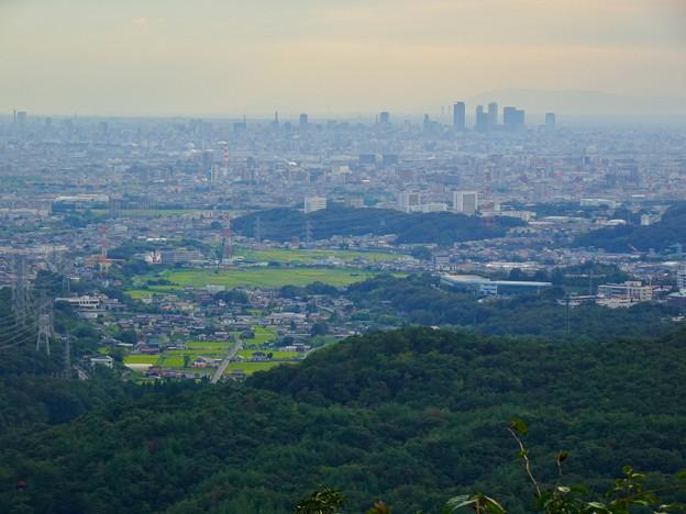 弥勒山中伏の東屋から見た名古屋方面の景色 - 1