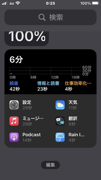 Photos: iOS 14:通知センターにホーム画面ウィジェットも表示可能(スクリーンタイム)