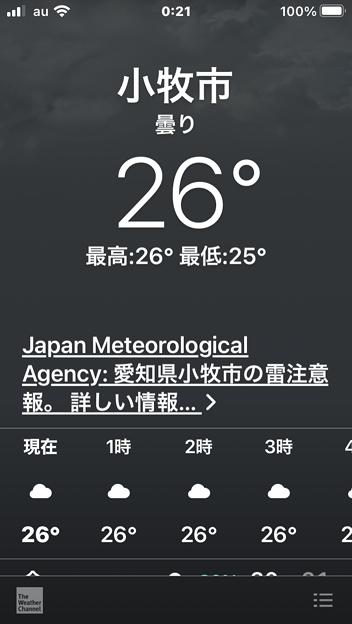 iOS 14 天気アプリ - 1:注意報を表示