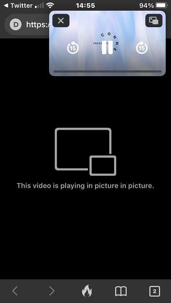 iOS 14:ピクチャー・イン・ピクチャー機能 - 3