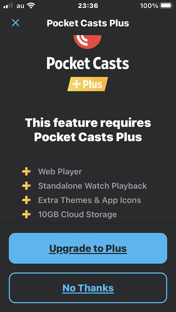 ポッドキャスト視聴用アプリ「Pocket Casts」- 8:有料プラス版の説明