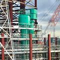 建設中のリニア中央新幹線 神領非常口(2020年9月26日)- 2:何かのタンク
