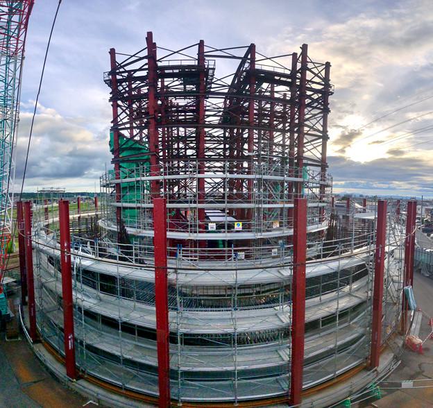 建設中のリニア中央新幹線 神領非常口(2020年9月26日)- 3:Photosynthパノラマ