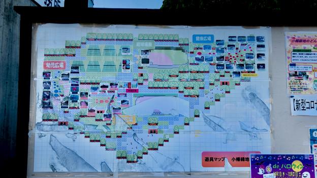 小幡緑地 西園 No - 5:RPG風の案内図