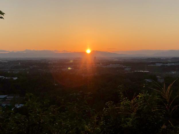 西高森山の山頂から見た夕日 - 1