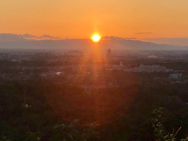 西高森山の山頂から見た夕日 - 2