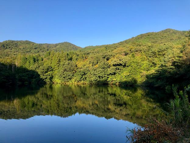 大谷北池 - 4:弥勒山と大谷山