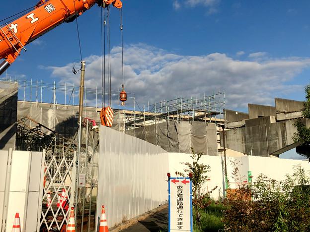 桃花台線の桃花台東駅解体工事(2020年10月11日) - 8