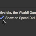 Photos: Vivaldi 3.4.2066.64:スピードダイヤルからアクセスできるゲーム「Vivaldia」が追加!? - 8:設定