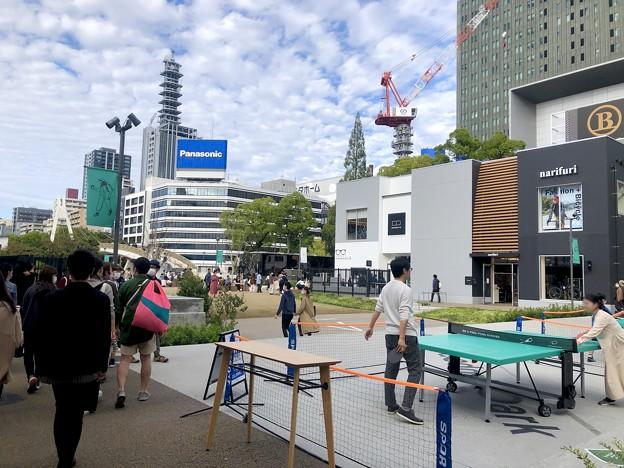 リニューアル直後で賑わう久屋大通公園 - 10:テレビ塔下に卓球場!?