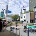 Photos: リニューアル直後で賑わう久屋大通公園 - 10:テレビ塔下に卓球場!?