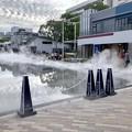 Photos: リニューアル直後で賑わう久屋大通公園 - 39:定期的に出る?水蒸気