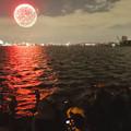 Photos: 潮見ふ頭から名港水上芸術花火を撮影してた人たち - 2