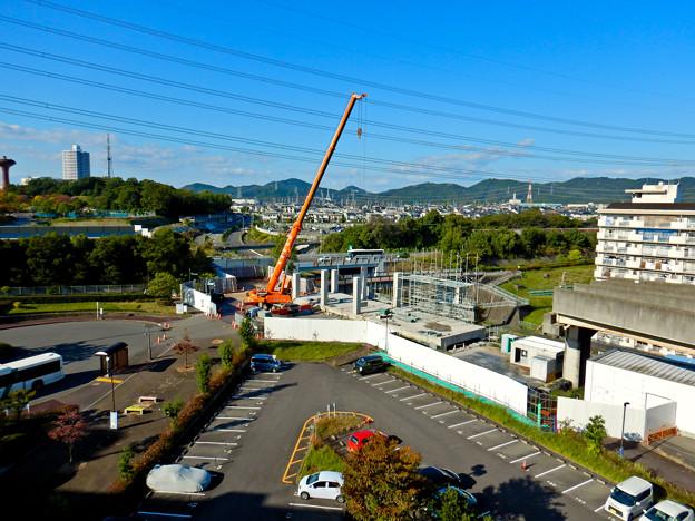 解体工事中の桃花台線桃花台東駅(2020年10月26日) - 17