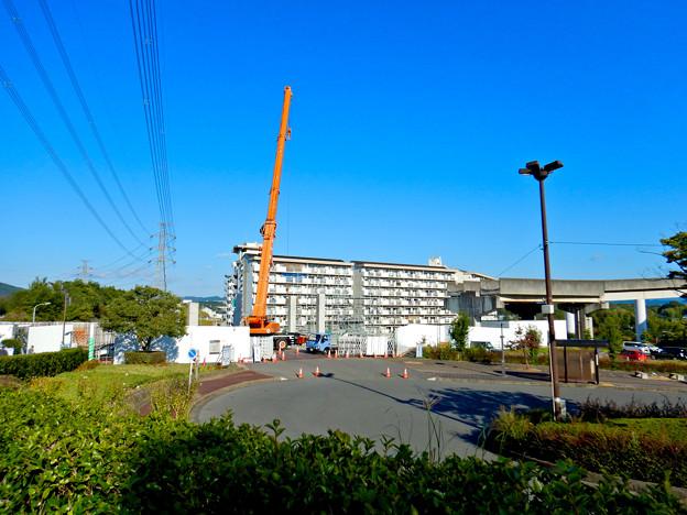解体工事中の桃花台線桃花台東駅(2020年10月26日) - 23