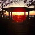 Photos: 弥勒山山頂からの展望台と夕焼け