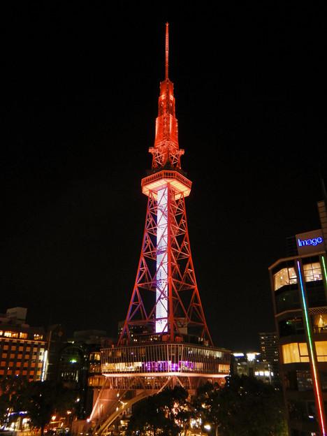 オアシス21から撮影した夜の名古屋テレビ塔 - 4