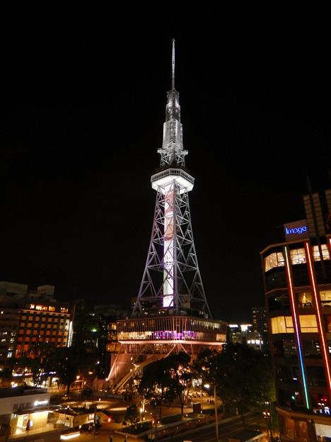 オアシス21から撮影した夜の名古屋テレビ塔 - 6