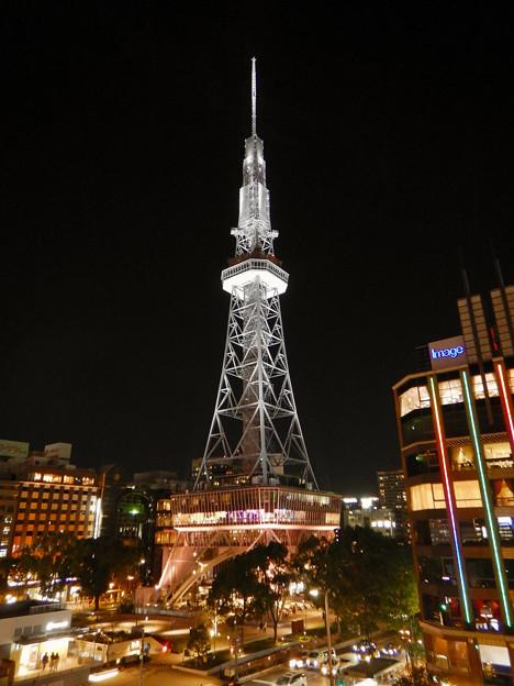 オアシス21から撮影した夜の名古屋テレビ塔 - 1