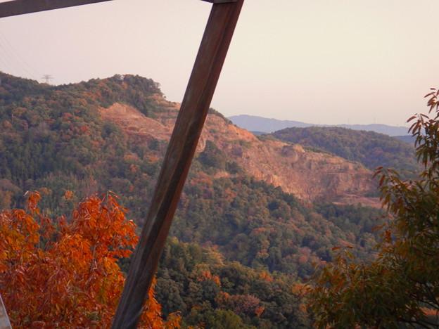 大谷山の送電線鉄塔下 - 4:採石場の斜面
