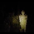 Photos: 道樹山の登山道:夜はとっても不気味な二宮金次郎像