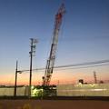Photos: 建物の建設が始まった?でっかいクレーンがあった旧ザ・モール春日井跡地(2020年11月16日)