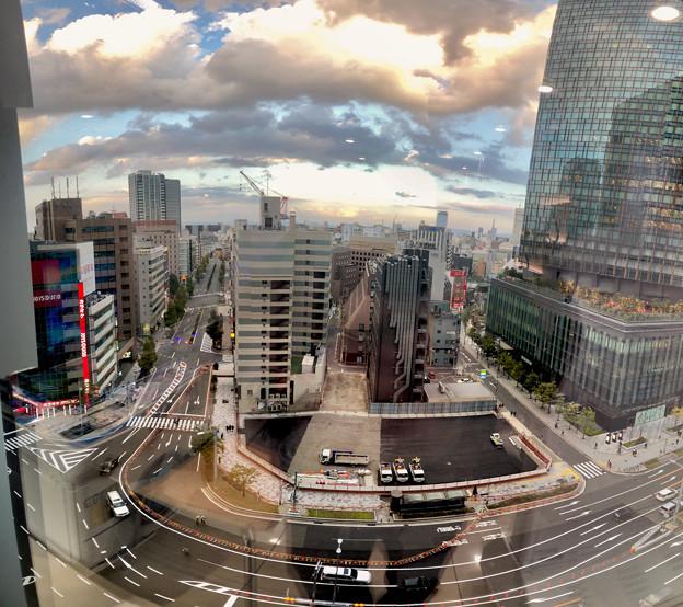 ゲートタワーから見下ろした景色(Photosynthパノラマ)