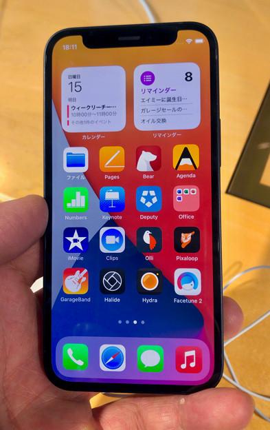 iPhone 12 Mini - 1:ホーム画面