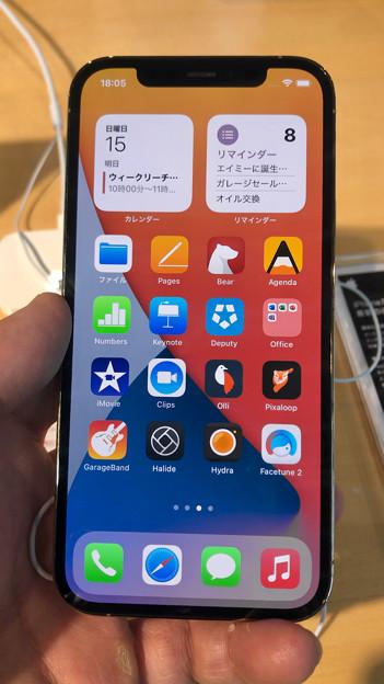 iPhone 12 Pro - 1:ホーム画面