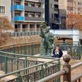 納屋橋堀割跡 - 1:福島正則像