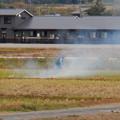 Photos: 田んぼで野焼き - 5