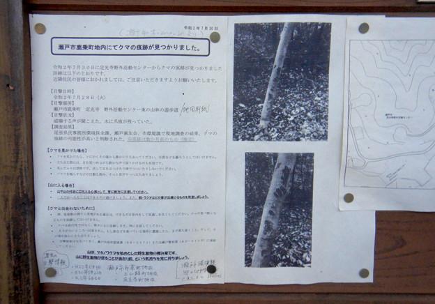 定光寺自然休養林 森林交流館 - 11:クマ出没の情報