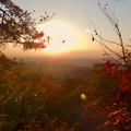 Photos: 弥勒山の遊歩道 No.27~35の間にある眺めの良い場所 - 4:夕日と西高森山