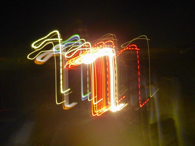 手ブレで作った光の軌跡 - 4