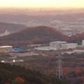 弥勒山から見た紅葉した高森山 - 2