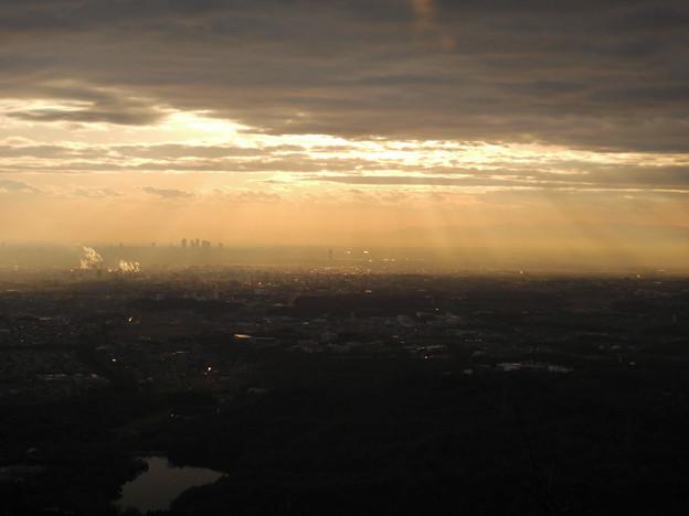 弥勒山山頂から見た景色 - 1:名古屋方面