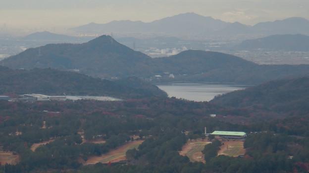 弥勒山山頂から見た景色 - 4:尾張富士と入鹿池