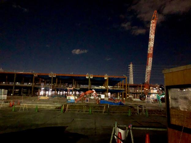 新しい建物の建設が始まっていた旧・ザ・モール春日井跡地(2020年12月21日) - 2