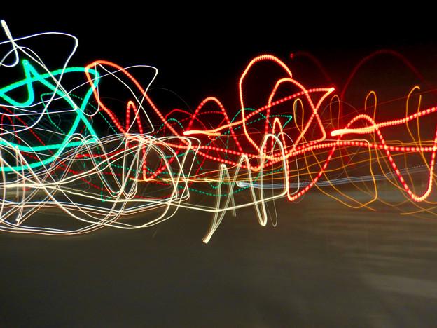 COOLPIX W300:比較明合成で撮影した光の軌跡 - 2