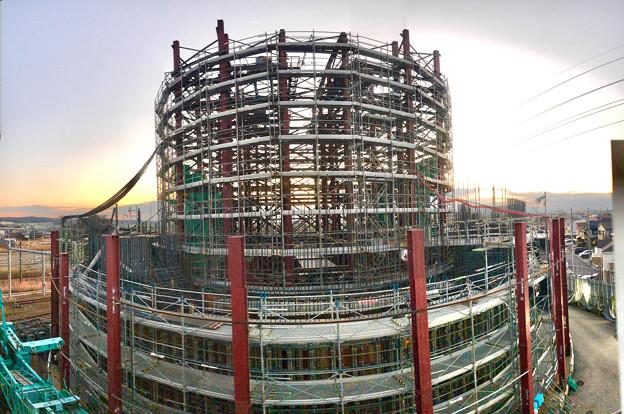 建設中のリニア中央新幹線 神領非常口(2020年12月26日) - 3:Photosynthパノラマ