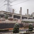 雪の大晦日に撮影した解体工事中の旧・桃花台東駅 - 1