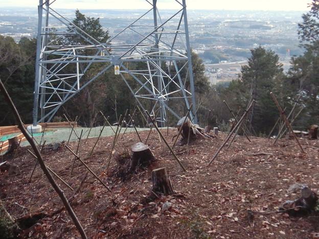 完成したと見られる、ふれあいの森のリニア中央線用の送電線鉄塔 - 11