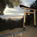Photos: 尾張白山社:黄金の鳥居越しに見た夕暮れ時の景色 - 2