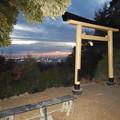 Photos: 尾張白山社:黄金の鳥居越しに見た夕暮れ時の景色 - 3