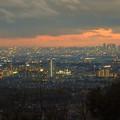 尾張白山社から見た夕暮れ時の景色