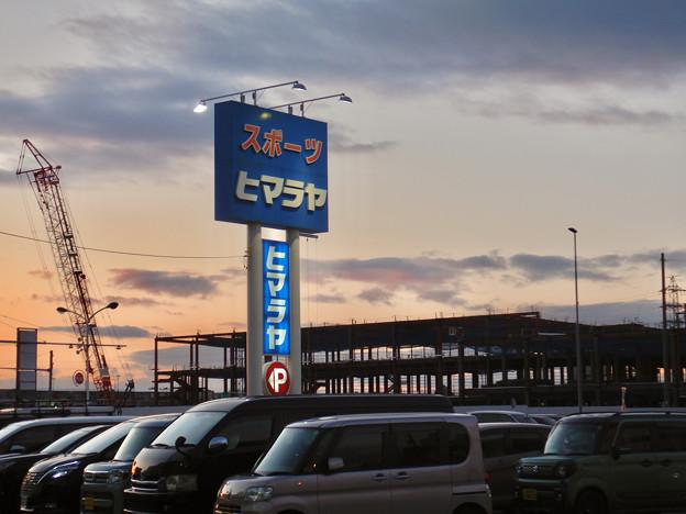建設工事中の旧・ザ・モール春日井跡地の商業施設(2021年1月4日) - 2