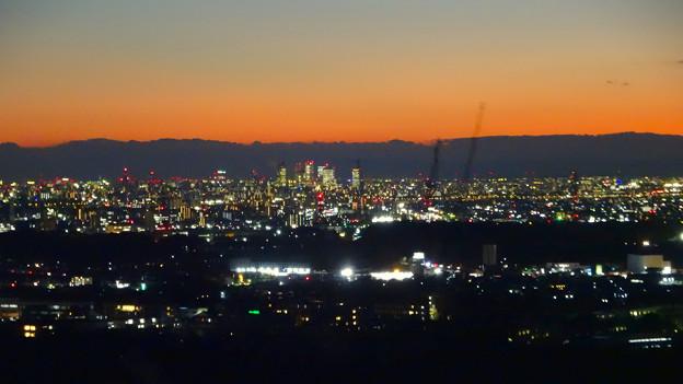 西高森山頂から見た夜景