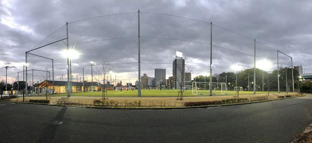 テラスポ鶴舞のサッカーグランド(パノラマ)